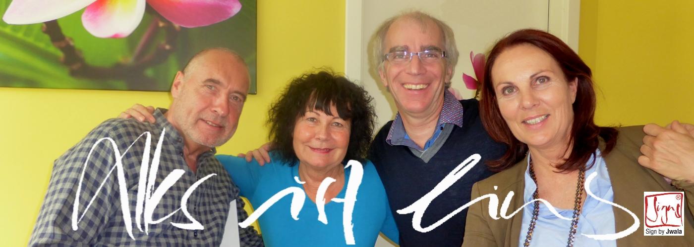 Mit Jwala und Karl